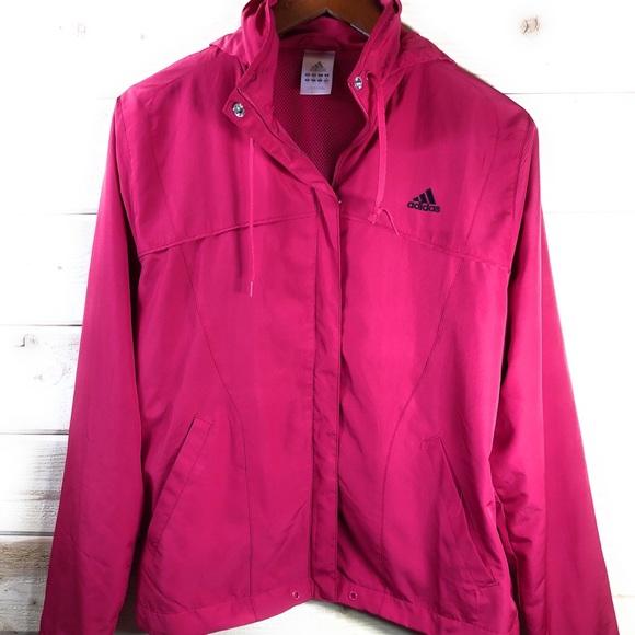 adidas Jackets & Blazers - Adidas Windbreaker With Hood